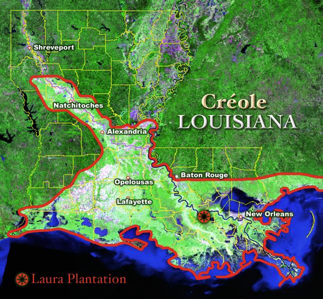 Map Of Louisiana Plantations.Laura Plantation Evolution Of Creole Identity In Louisiana